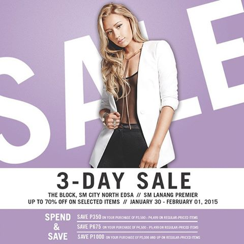 Forever 21 3-Day Sale January - February 2015