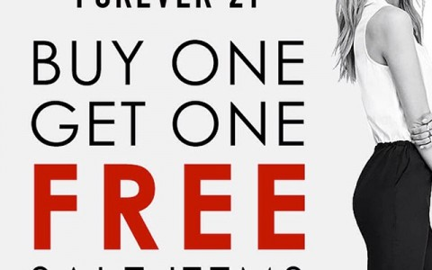 Forever 21 Buy One Get One on Sale Items January 2015