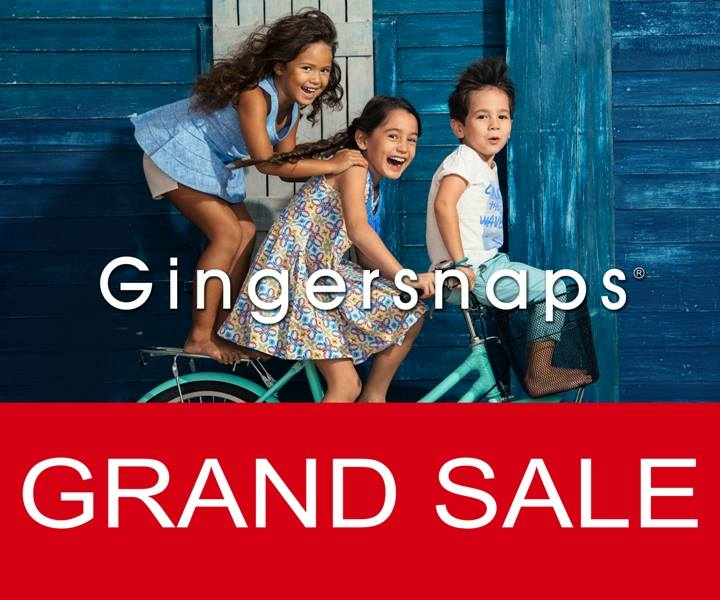 Gingersnaps Grand Sale December - Febarury 2015
