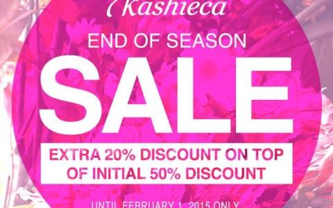 Kashieca End of Season Sale January - February 2015