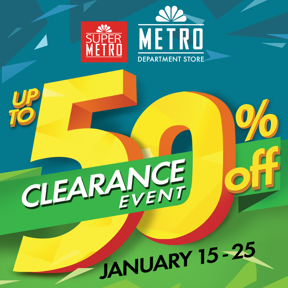 Metro Department Store & Super Metro Clearance Sale January 2015