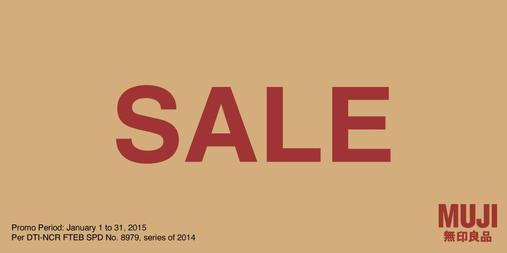 Muji End of Season Sale January 2015