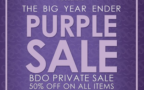 Plains & Prints The Big Year Ender Purple Sale January 2015