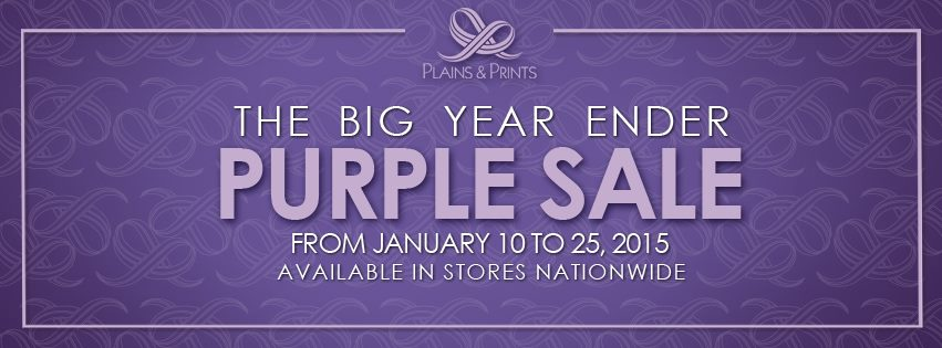 Plains & Prints The Big Year Ender Purple Sale January 2015