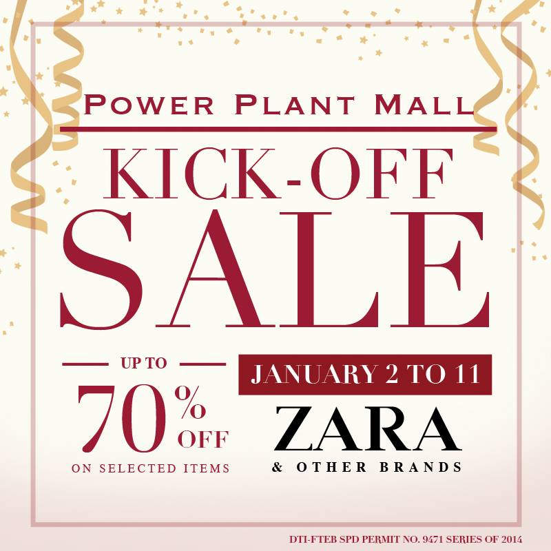 Power Plant Mall Kick Off Sale January 2015