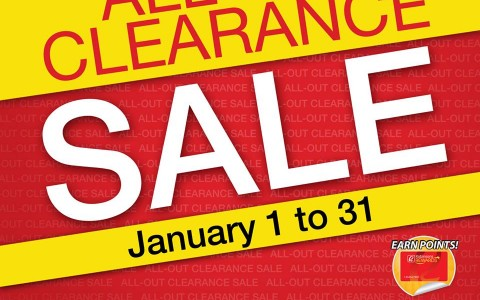 Robinsons Department Store All-Out Clearance Sale January 2015