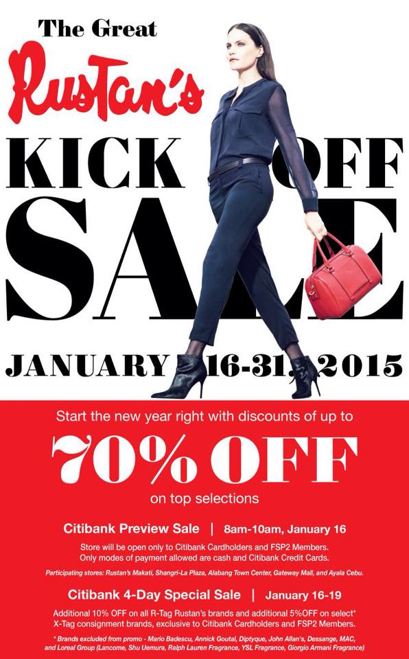 Rustan's Kick Off Sale January 2015