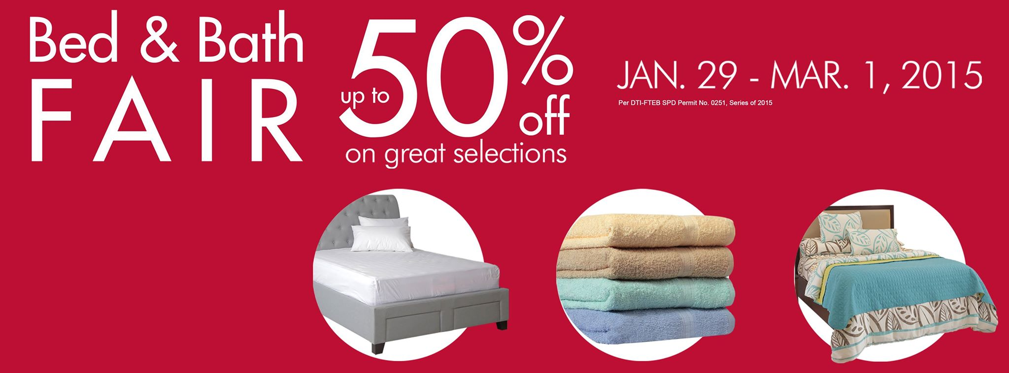 SM Home Bed & Bath Fair January - March 2015