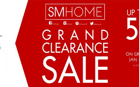 SM Home Grand Clearance Sale January - February 2015