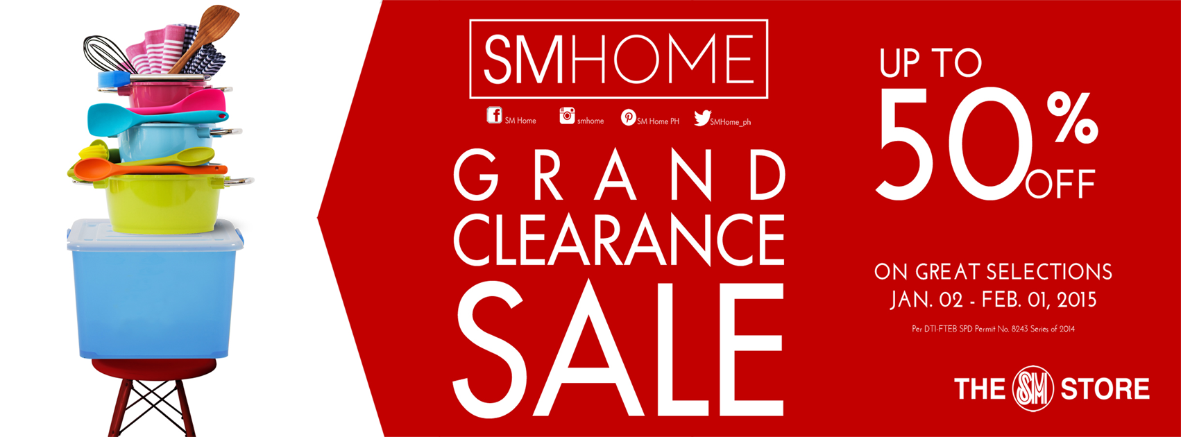 SM Home Grand Clearance Sale January - February 2015