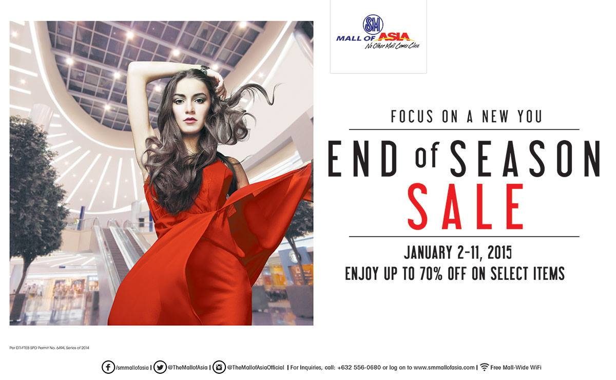 SM Mall of Asia End of Season Sale January 2015