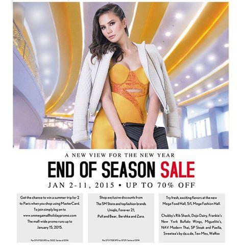 SM Megamall End of Season Sale January 2015