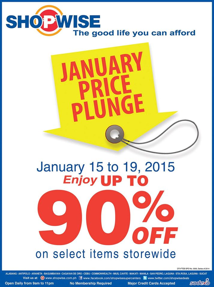 Shopwise January Price Plunge January 2015