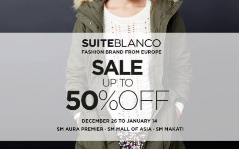 Suiteblanco End of Season Sale December - January 2015