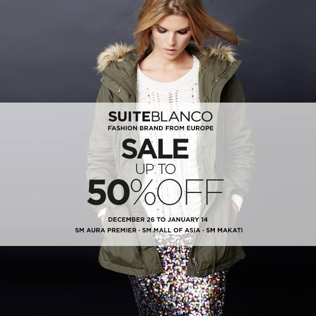 Suiteblanco End of Season Sale December - January 2015