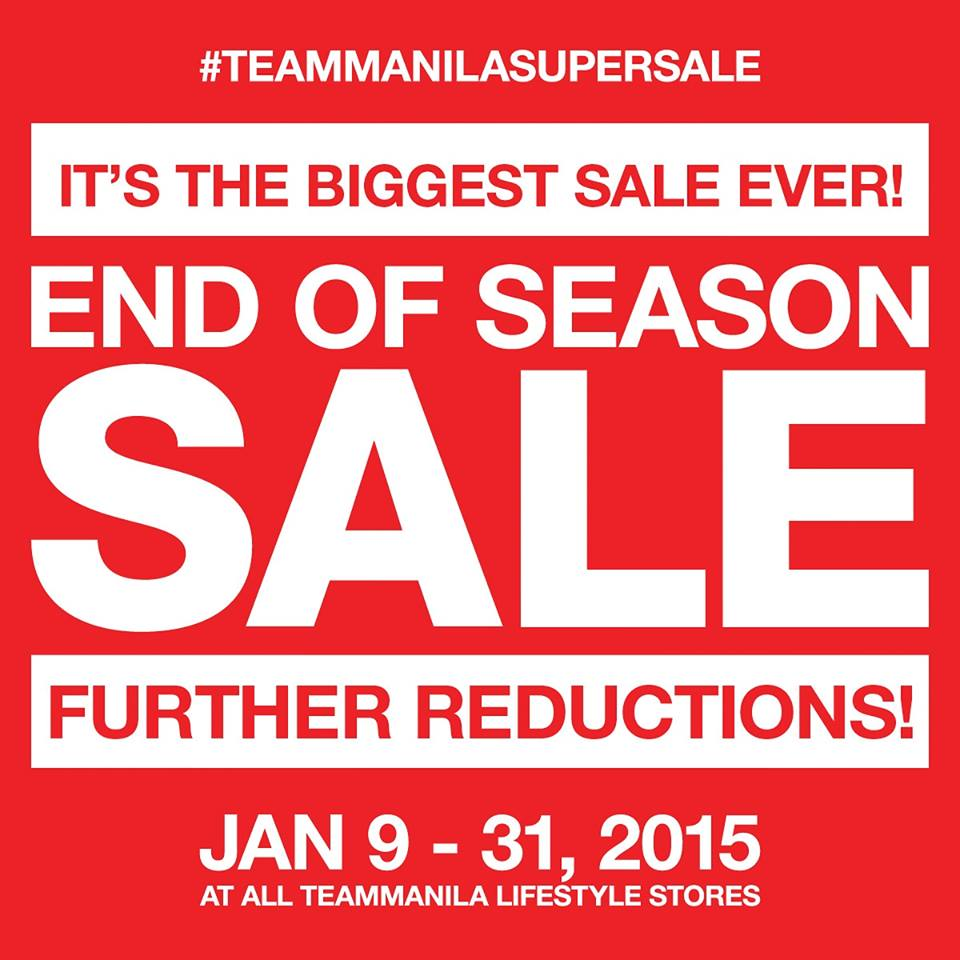 Teammanila End of Season Sale January 2015