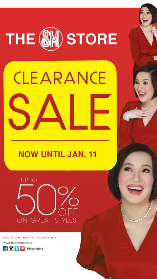 The SM Store Clearance Sale January 2015
