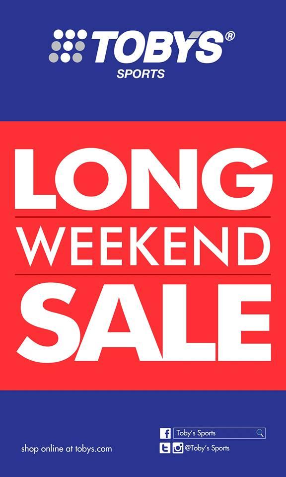 Toby's Sports Long Weekend Sale January 2015