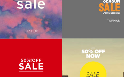 Topshop, Topman, Dorothy Perkins, Warehouse End of Season Sale January - February 2015
