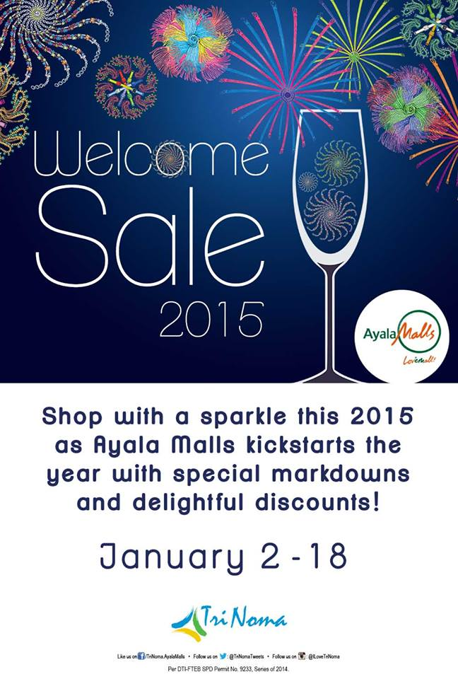 Trinoma Welcome 2015 Sale January 2015