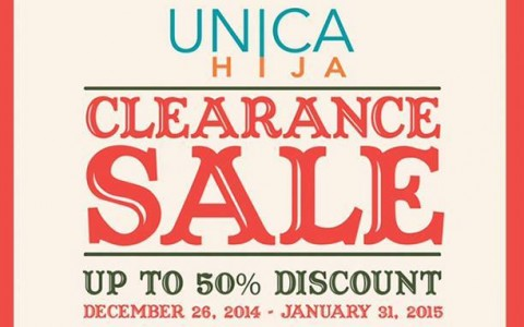 Unica Hija Clearance Sale December - January 2015