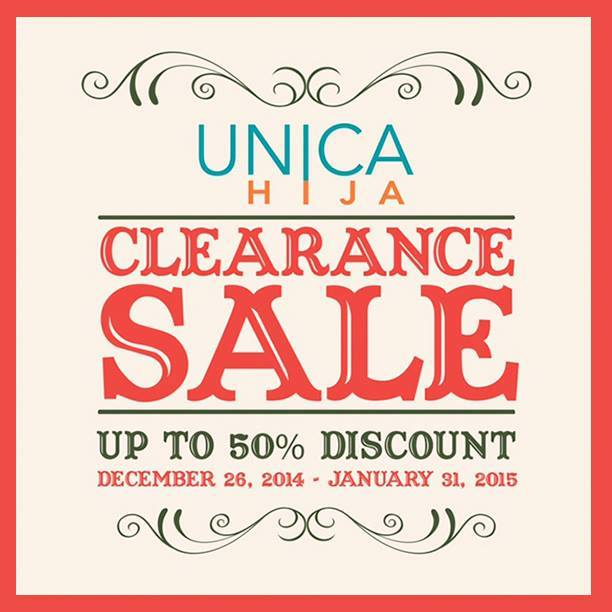Unica Hija Clearance Sale December - January 2015