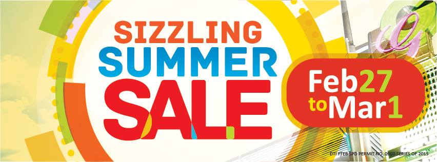 Araneta Center Sizzling Summer Sale February - March 2015