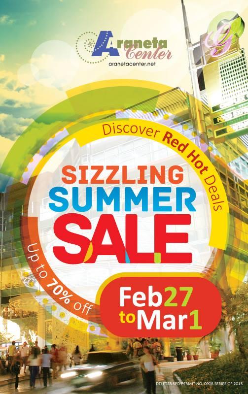 Araneta Center Sizzling Summer Sale February - March 2015