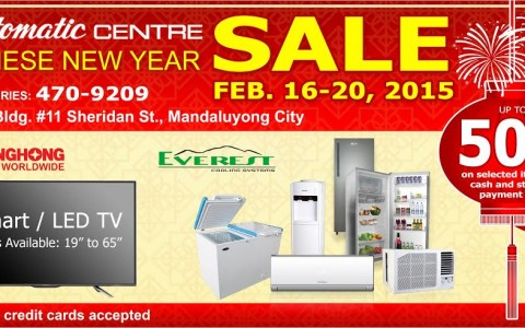 Automatic Center Chinese New Year Sale @ Benito Building February 2015