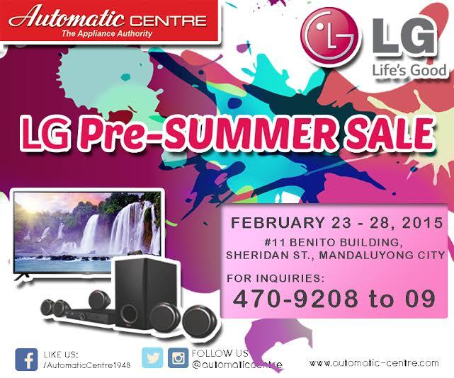 Automatic Centre LG Pre-Summer Sale @ Benito Building February 2015