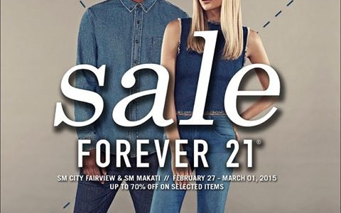 Forever 21 3-Day Sale @ SM Makati and SM Fairview February - March 2015