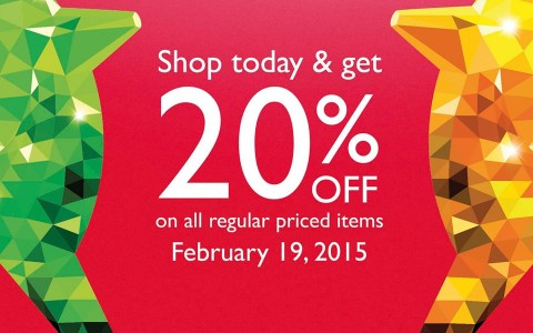 Giordano Chinese New Year Sale February 2015