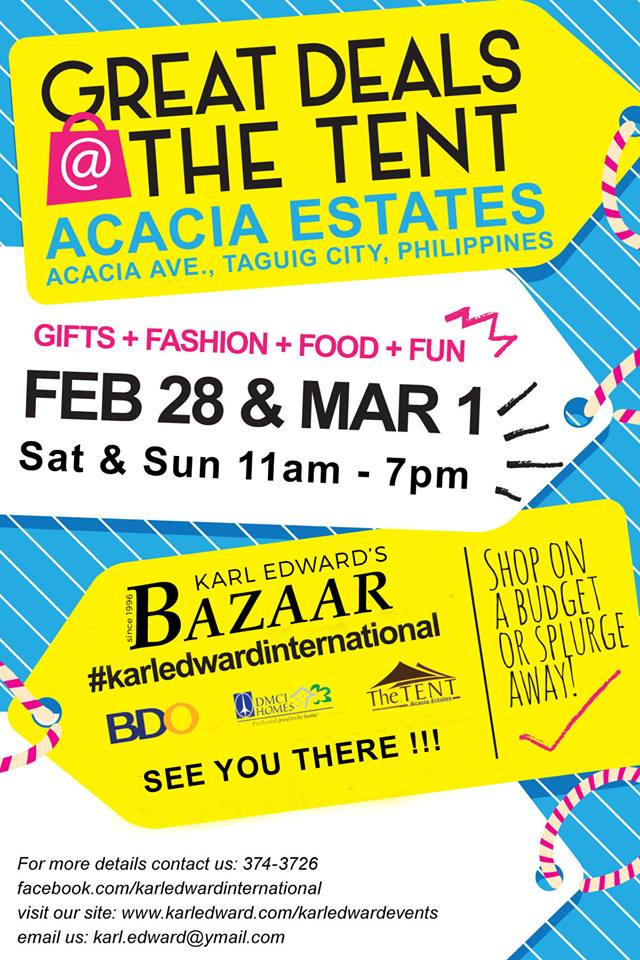 Great Deals Bazaar @ The Tent, Acacia Estates February - March 2015