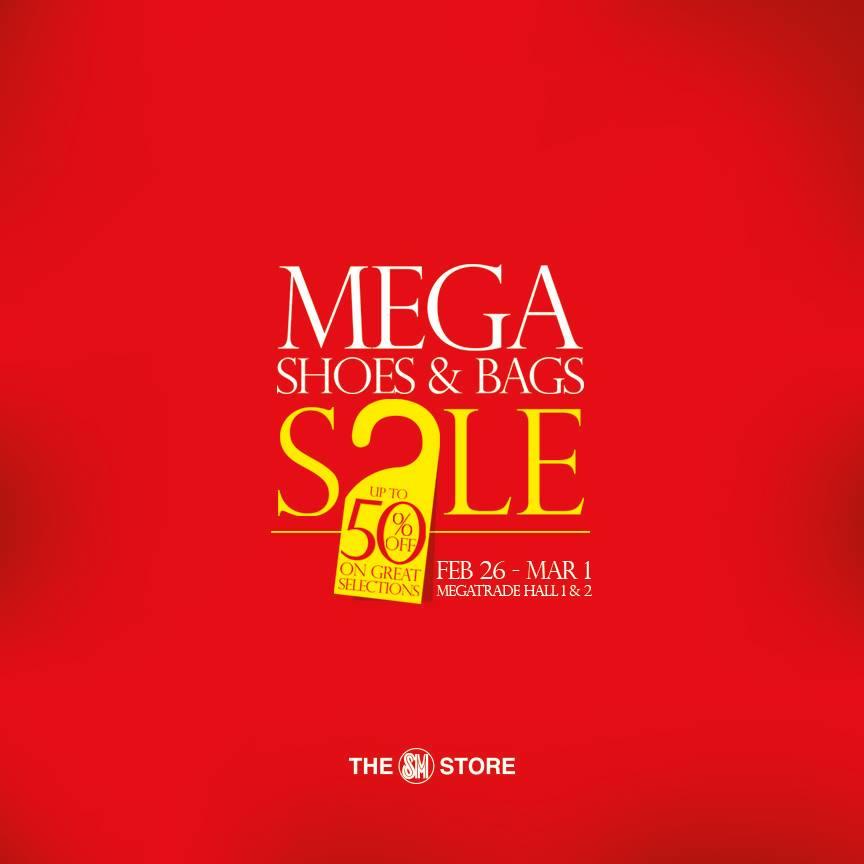 Mega Shoes   Bags Sale   SM Megatrade Hall February - March 2015 50e1bf12e