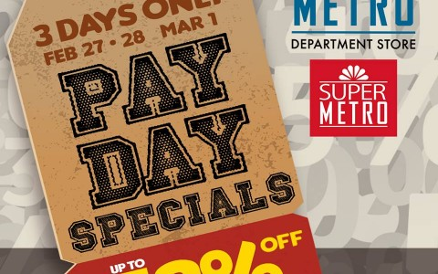 Metro Department Store & Super Metro 3-Day Sale February - March 2015