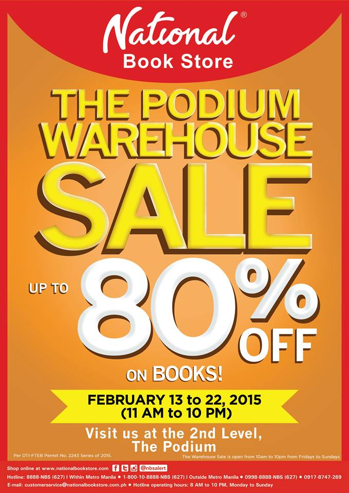 National Book Store Warehouse Sale @ The Podium Mall February 2015