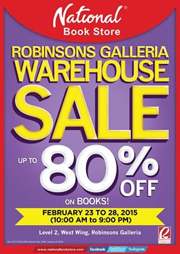 National Book Store Warehouse Sale @ Robinsons Galleria February 2015