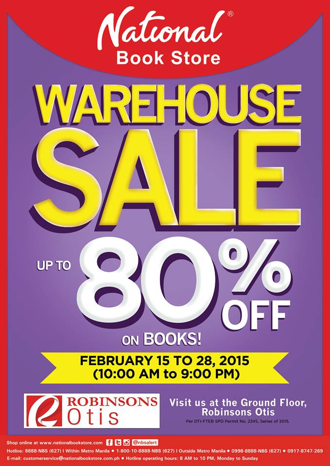 National Book Store Warehouse Sale @ Robinsons Otis February 2015