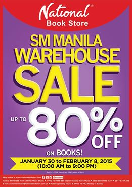 National Book Store Warehouse Sale @ SM Manila January - February 2015