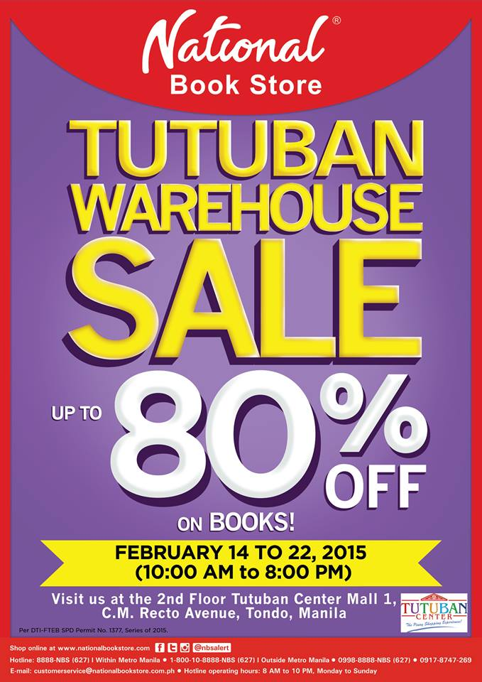 National Book Store Warehouse Sale @ Tutuban Mall February 2015