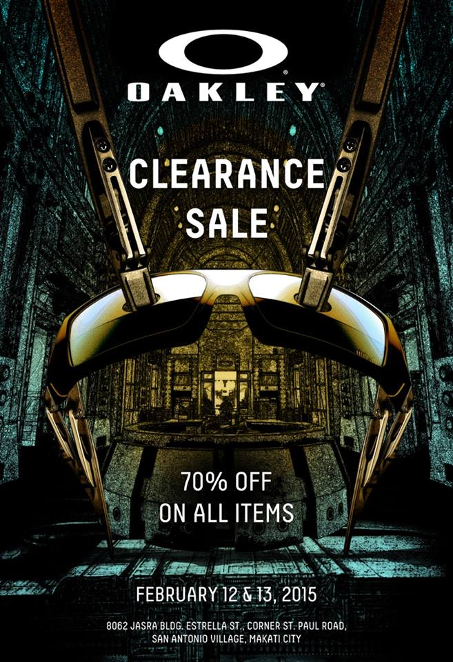 Oakley Clearance Sale @ JASRA Building February 2015