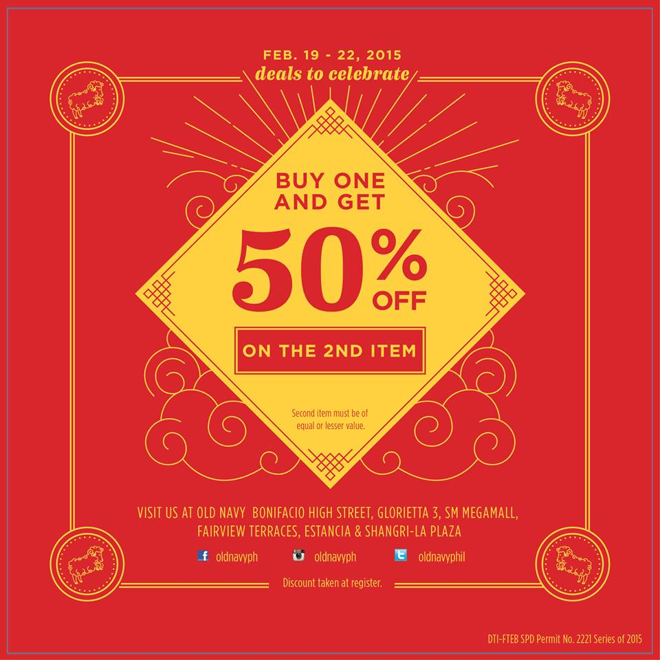 Old Navy Chinese New Year Treat Promo February 2015