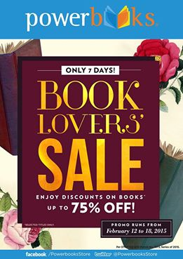 Powerbooks Book Lovers Sale February 2015