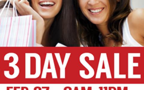 SM City Marikina 3-Day Sale February - March 2015