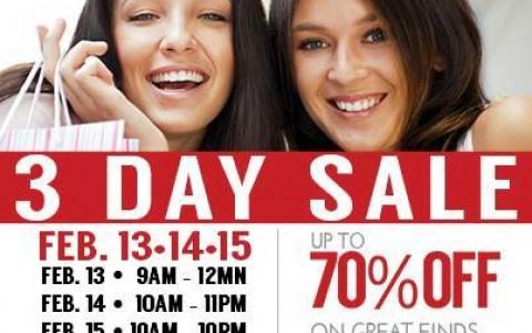 SM City Sta. Mesa 3-Day Sale February 2015