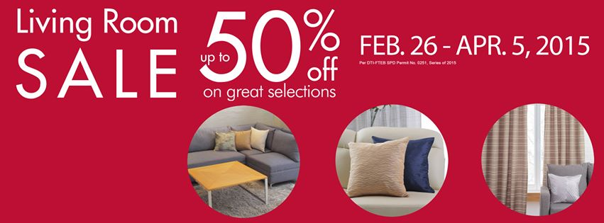 SM Home Living Room Sale February - April 2015