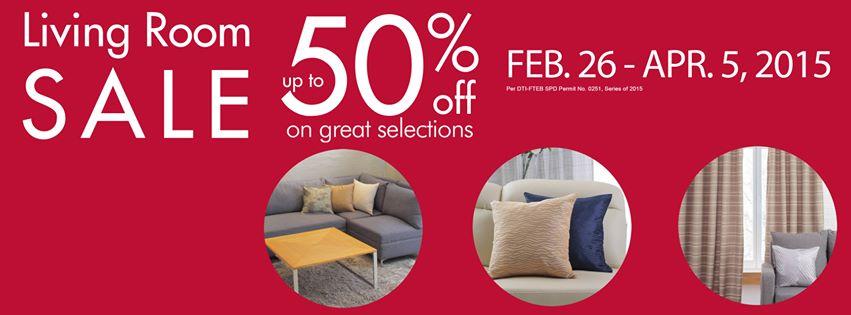 SM Home Living Room Sale February - April 2015