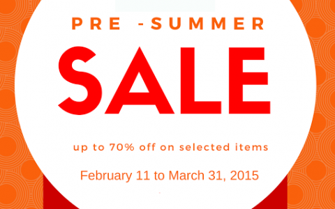 The Ramp Crossings Pre-Summer Sale February - March 2015