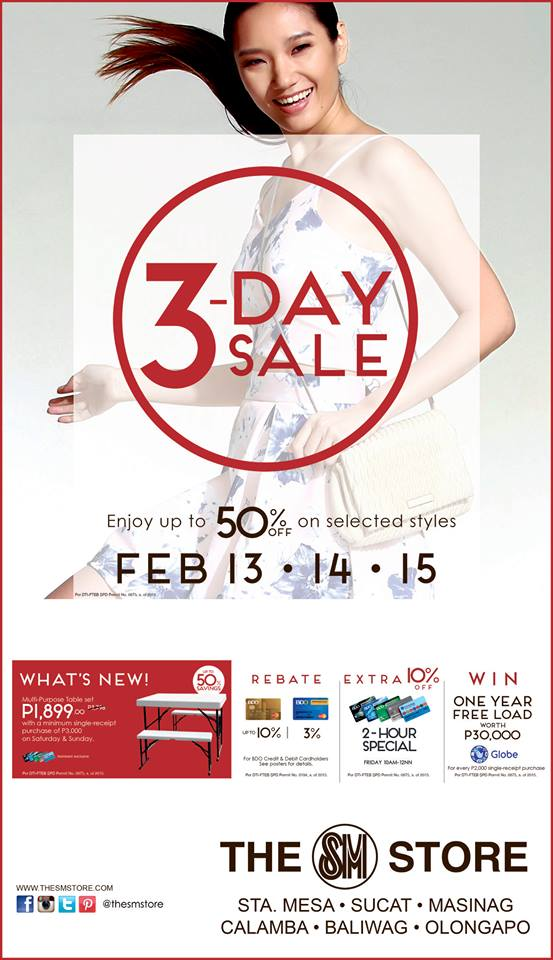 The SM Store 3-Day Sale February 2015
