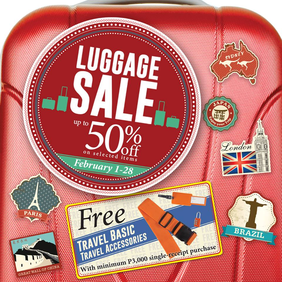 The SM Store Luggage Sale February 2015